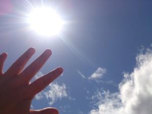 手のひらと太陽